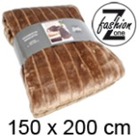 Decke Fell Wohndecke hellbraun 150 x 200 cm Kuscheldecke