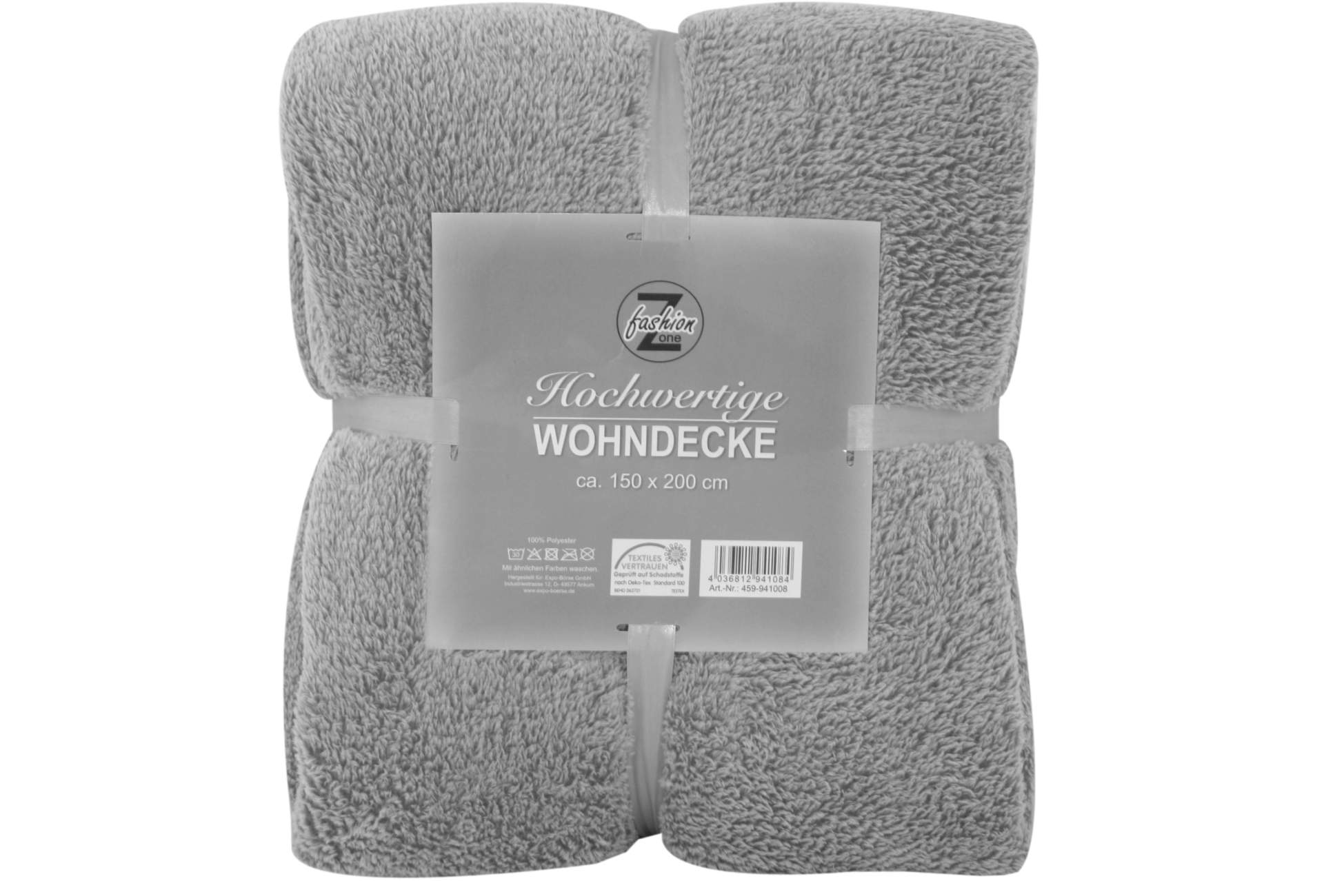 flanell wohndecke grau 200 x 150 cm kuscheldecke sofadecke flanelldecke decke ebay. Black Bedroom Furniture Sets. Home Design Ideas