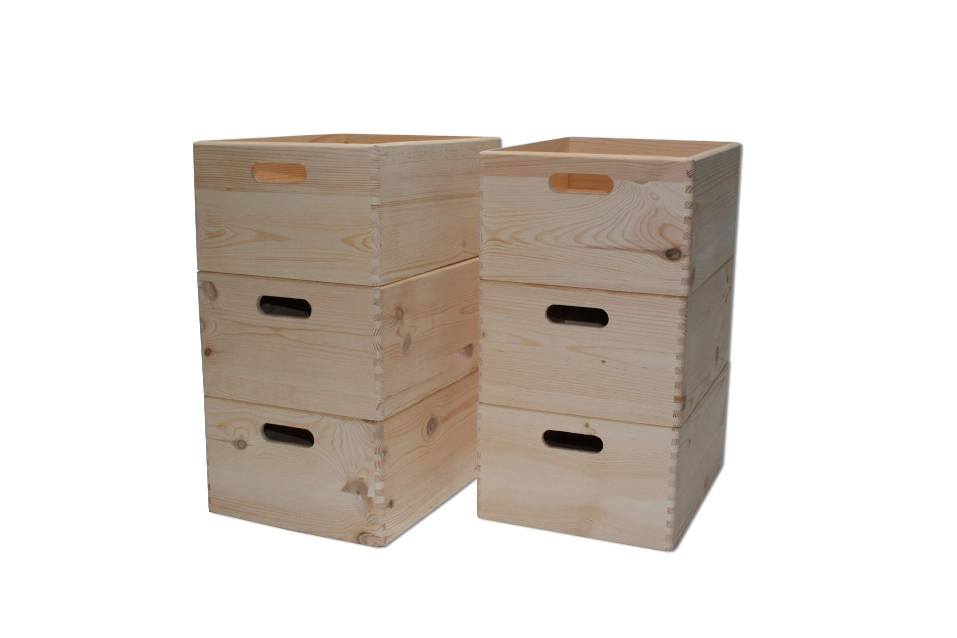 holzkiste 6 st ck box 40 x 30 x 19 cm werkzeug spielzeug kiste holz stapelbar ebay. Black Bedroom Furniture Sets. Home Design Ideas