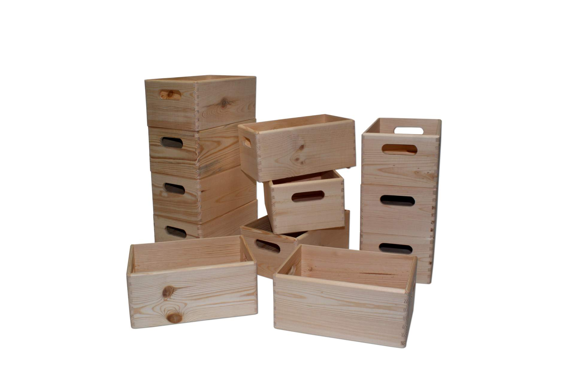 12 set allzweck box 30x20x14 cm kiste holz stapelbar 12 st ck w sche spielzeug ebay. Black Bedroom Furniture Sets. Home Design Ideas
