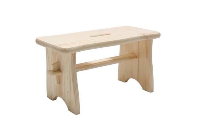 repose pied en pin naturel 40 x 19 x 21 cm bois tabouret tabouret repose pieds neuf ebay. Black Bedroom Furniture Sets. Home Design Ideas