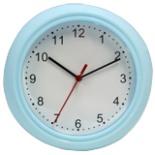 Wanduhr 22 cm DAY blau Uhr Wand Küchenuhr Bürouhr Quarzuhr