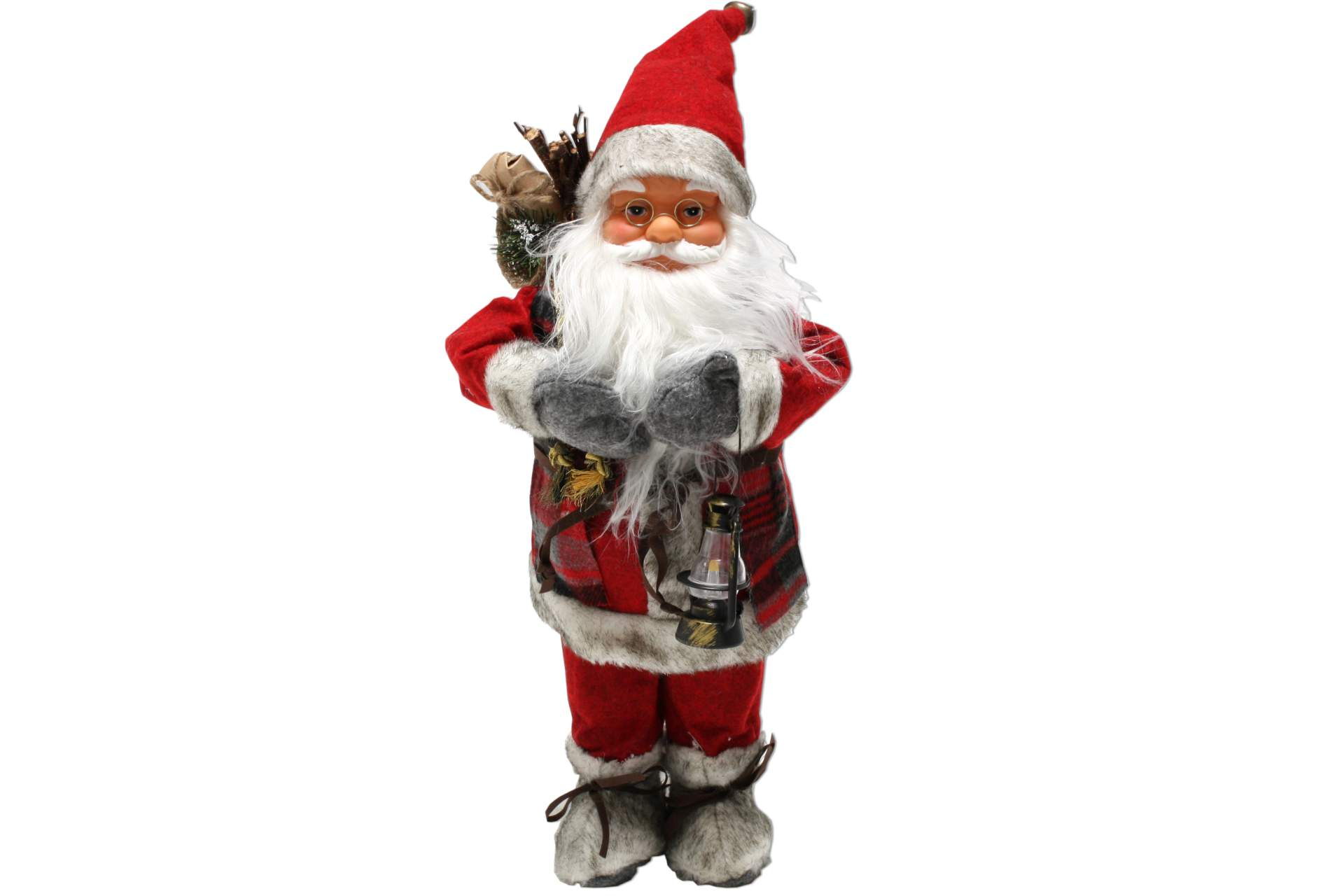 weihnachtsmann 40 cm nordisch rot mit laterne santa claus nikolaus deko figur ebay. Black Bedroom Furniture Sets. Home Design Ideas