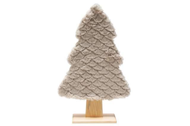 tannenbaum mit kuschelfell 41 cm beige xmas weihnachten holzbaum tanne holz deko ebay. Black Bedroom Furniture Sets. Home Design Ideas