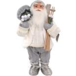Weihnachtsmann 80 cm weiß mit Brille Skier & Sack Nikolaus
