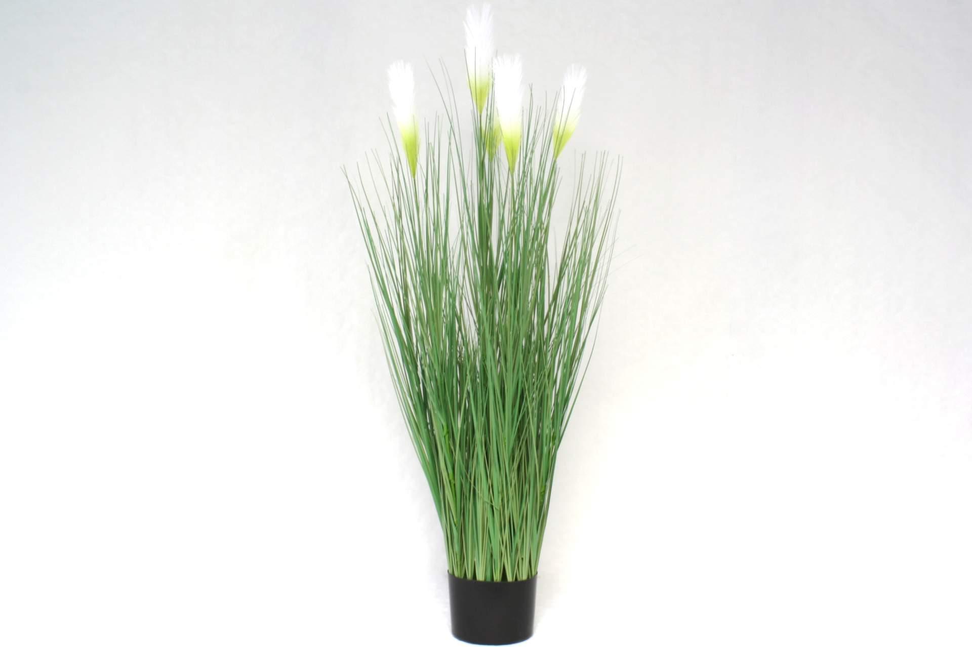 k nstliches ufergras mit weiss gr nen bl ten 120 cm kunstpflanze gras k nstlich. Black Bedroom Furniture Sets. Home Design Ideas