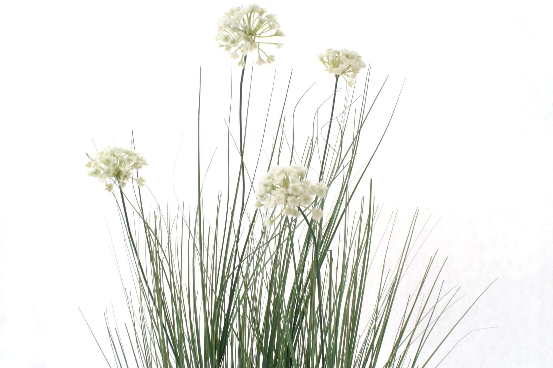k nstliches ufergras mit weissen bl ten 120 cm kunstpflanze gras k nstlich neu ebay. Black Bedroom Furniture Sets. Home Design Ideas