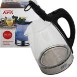 AFK Wasserkocher Glas 1,7 Liter mit blauer LED Beleuchtung
