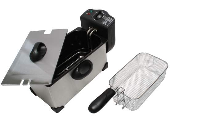 friteuse fritteuse 2000 watt 3 liter edelstahl kaltzone frit se frittieren ebay. Black Bedroom Furniture Sets. Home Design Ideas