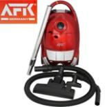 AFK Boden Staubsauger 1600 Watt mit Zubehör Rot Metallic