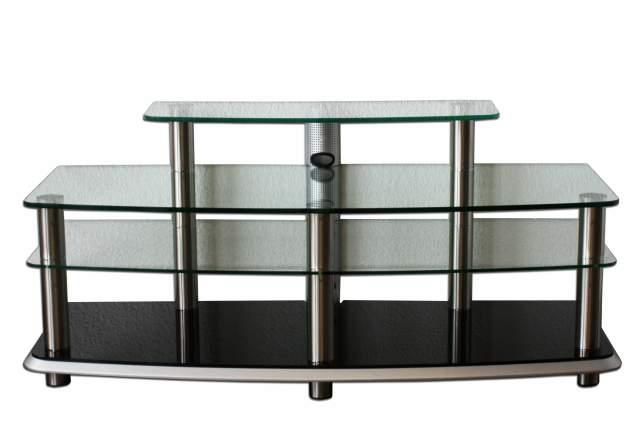 fernsehtisch tv fernseh phono tisch glas fernseh regal hifi audio delta rack ebay. Black Bedroom Furniture Sets. Home Design Ideas