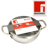 Bergner Gourmet Kochtopf flach mit Deckel 24 cm Edelstahl