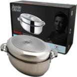 Tefal Multi Bräter Oval 8,4 L Edelstahl Jamie Oliver Edition