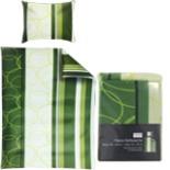 Bettwäsche Fleece 135 x 200 cm mit Reißverschluss Grün