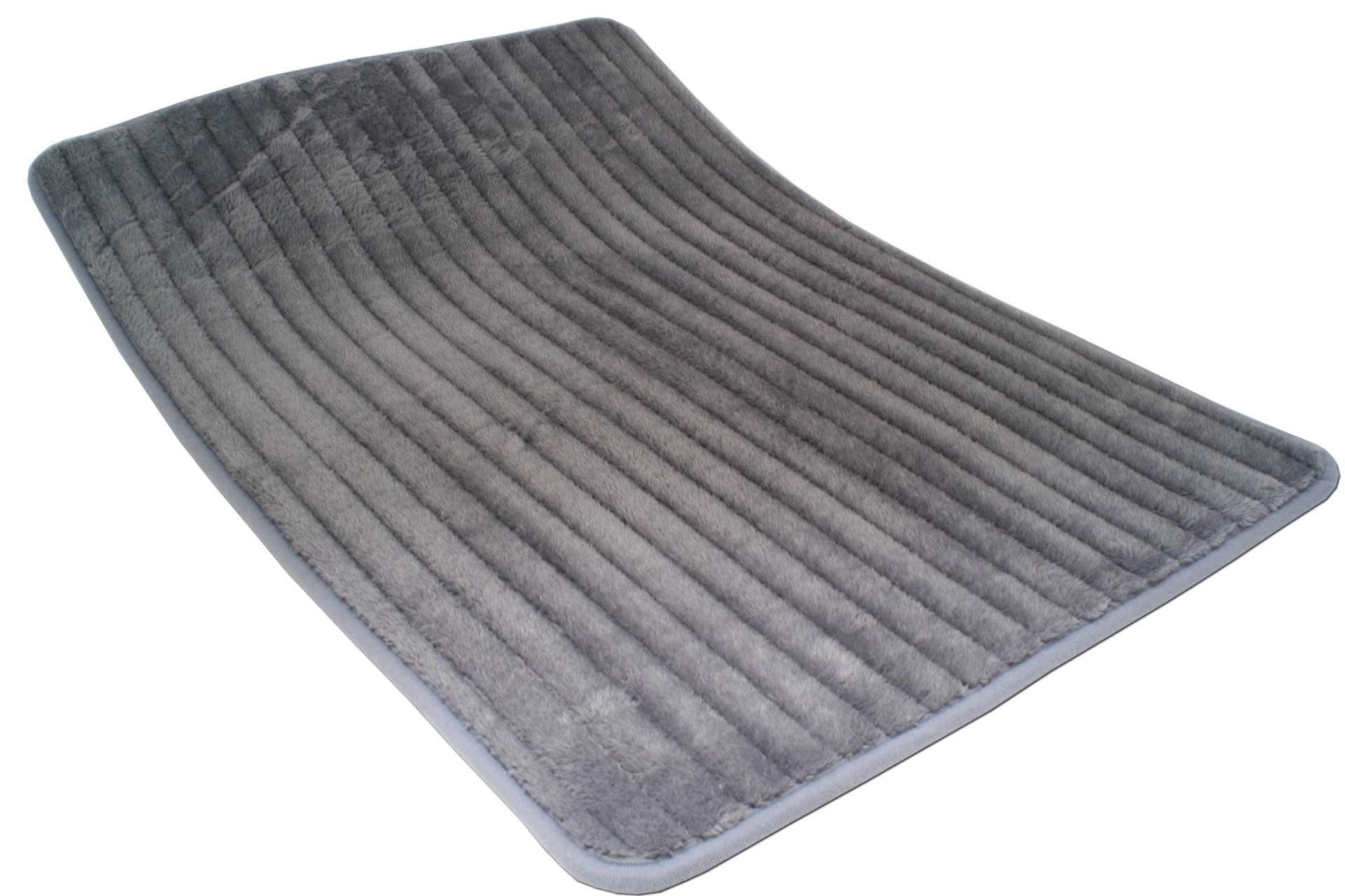 badematte grau 50 x 70 cm mikrofaser badezimmer teppich. Black Bedroom Furniture Sets. Home Design Ideas
