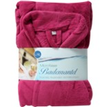 Bademantel Microfaser pink L/XL Morgenmantel Wellness