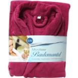 Bademantel Microfaser pink S/M Morgenmantel Wellness