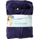 Bademantel Microfaser lila L/XL Morgenmantel Wellness