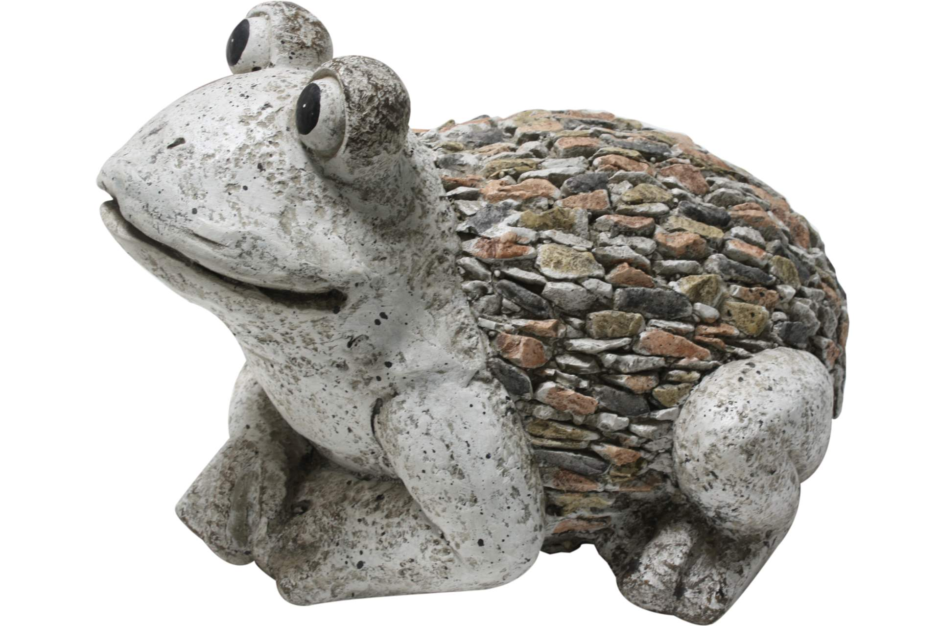 gartenfigur frosch 34 cm in steinoptik deko dekofigur beet skulptur dekoration ebay. Black Bedroom Furniture Sets. Home Design Ideas