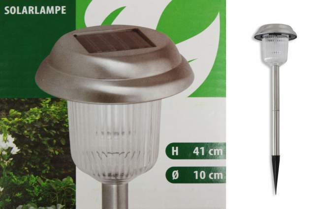 kynast led solar lampe edelstahl 41cm rund solarleuchte gartenlampe leuchte ebay. Black Bedroom Furniture Sets. Home Design Ideas