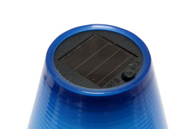solarlampe mit schirm blau kynast garden solarlicht garten leuchte 19 cm tisch ebay. Black Bedroom Furniture Sets. Home Design Ideas