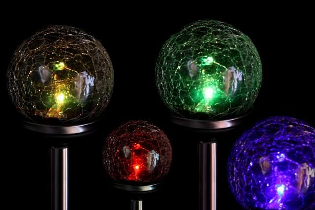 solar led kugelleuchte farbwechsel 8cm mit erdspiess kugel lampe leuchte licht. Black Bedroom Furniture Sets. Home Design Ideas