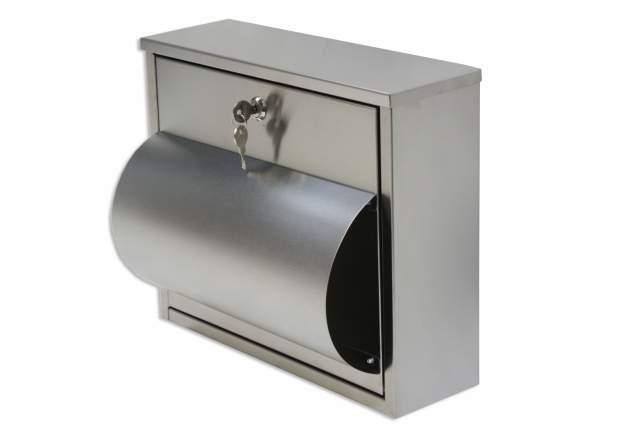 briefkasten edelstahl mit zeitungsfach vorn neu design postkasten briefe zeitung. Black Bedroom Furniture Sets. Home Design Ideas