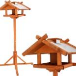 Vogelhaus mit Zinkdach und Ständer 1,55 Meter Vogel Haus