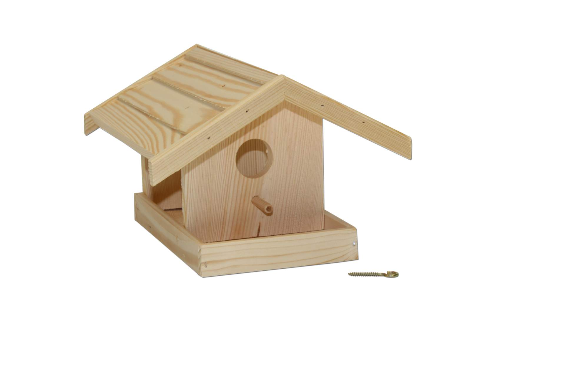 vogelhaus zum individuellen bemalen naturbelassen h uschen vogel futter haus neu ebay. Black Bedroom Furniture Sets. Home Design Ideas