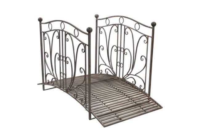 teichbr cke aus metall br cke gartenbr cke holzbr cke 175cm bis 150kg zierbr cke. Black Bedroom Furniture Sets. Home Design Ideas