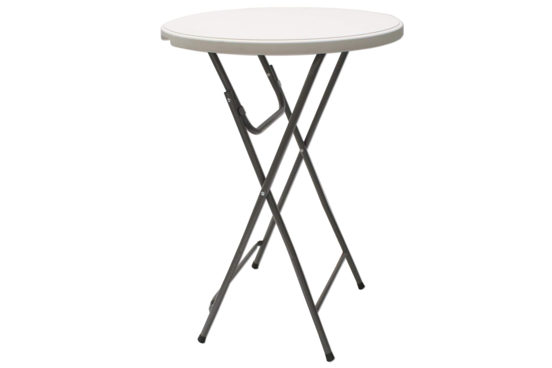 kynast party stehtisch mit platte 80cm weiss klappbar bistrotisch bartisch tisch ebay. Black Bedroom Furniture Sets. Home Design Ideas