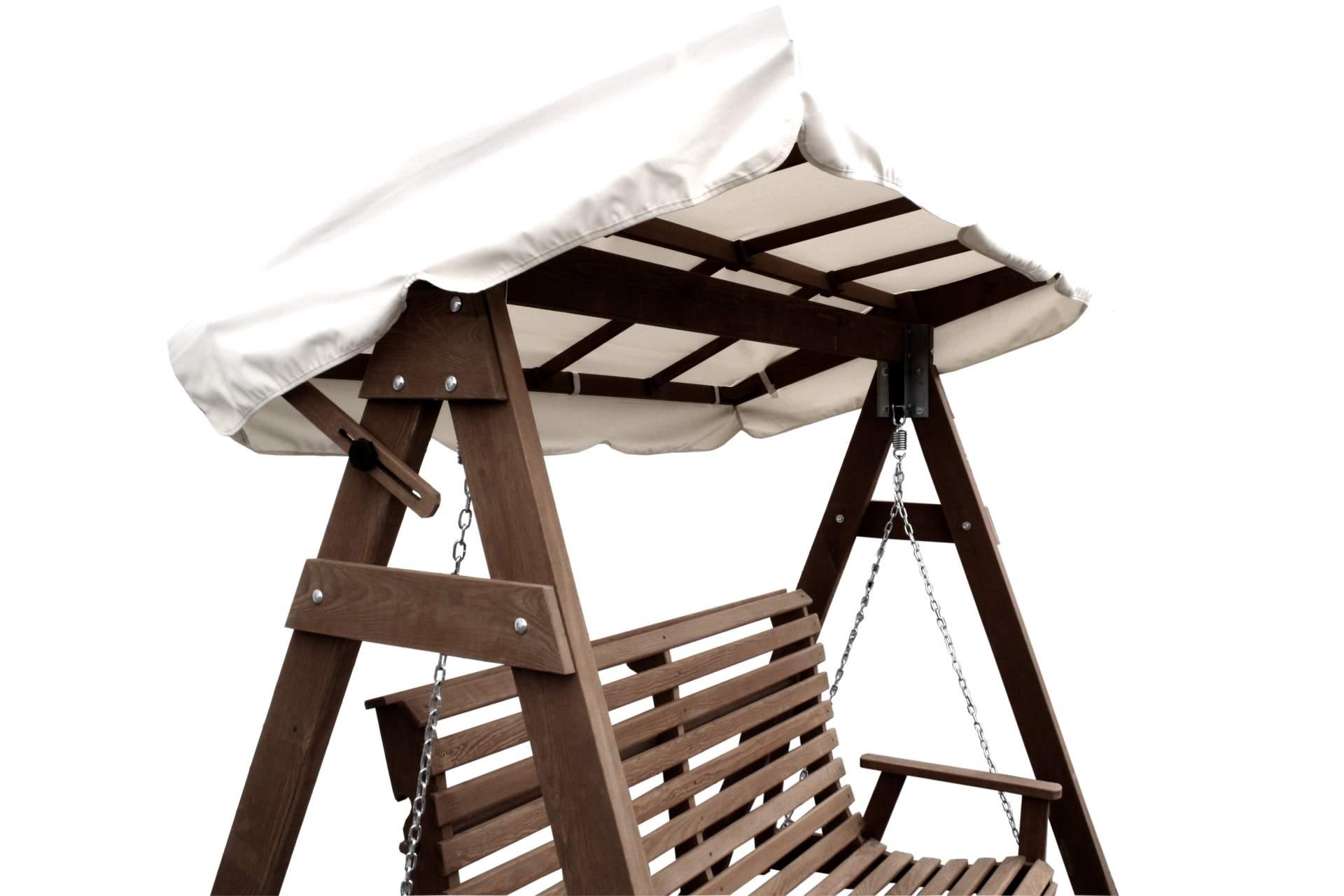 hollywoodschaukel mit dach kiefernholz eiche gebeizt schaukel gartenschaukel neu eur 299 99. Black Bedroom Furniture Sets. Home Design Ideas