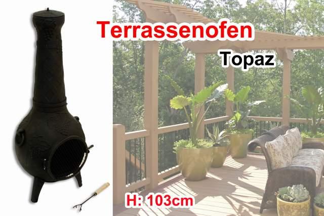 Terrassenofen Kamin Gartenkamin Aztekofen Ofen Topaz