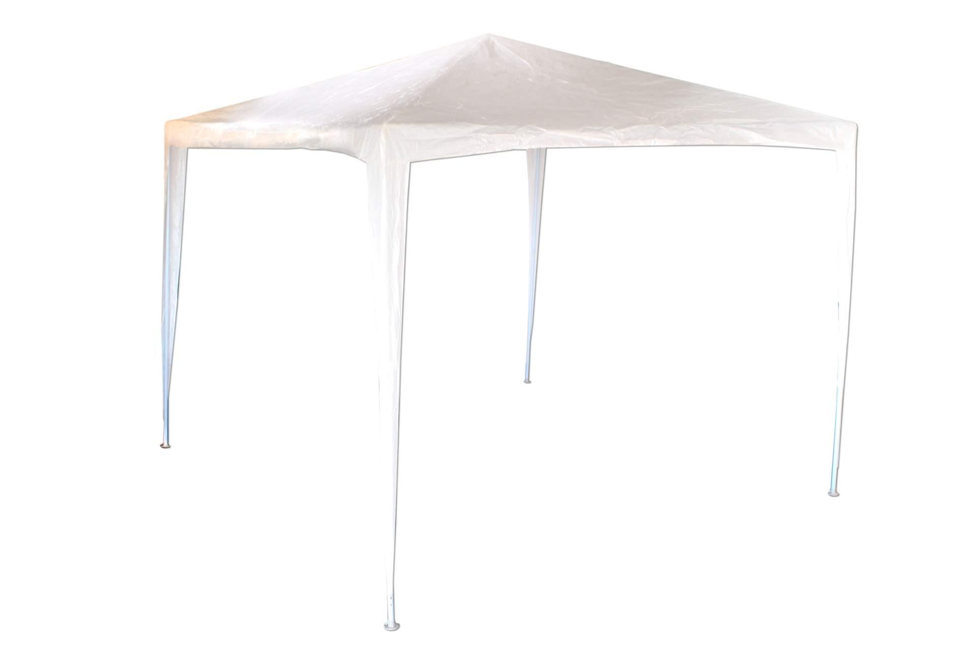 pavillon kynast 3 x 3 meter weiss stahl gest nge pe plane pavillion party zelt ebay. Black Bedroom Furniture Sets. Home Design Ideas