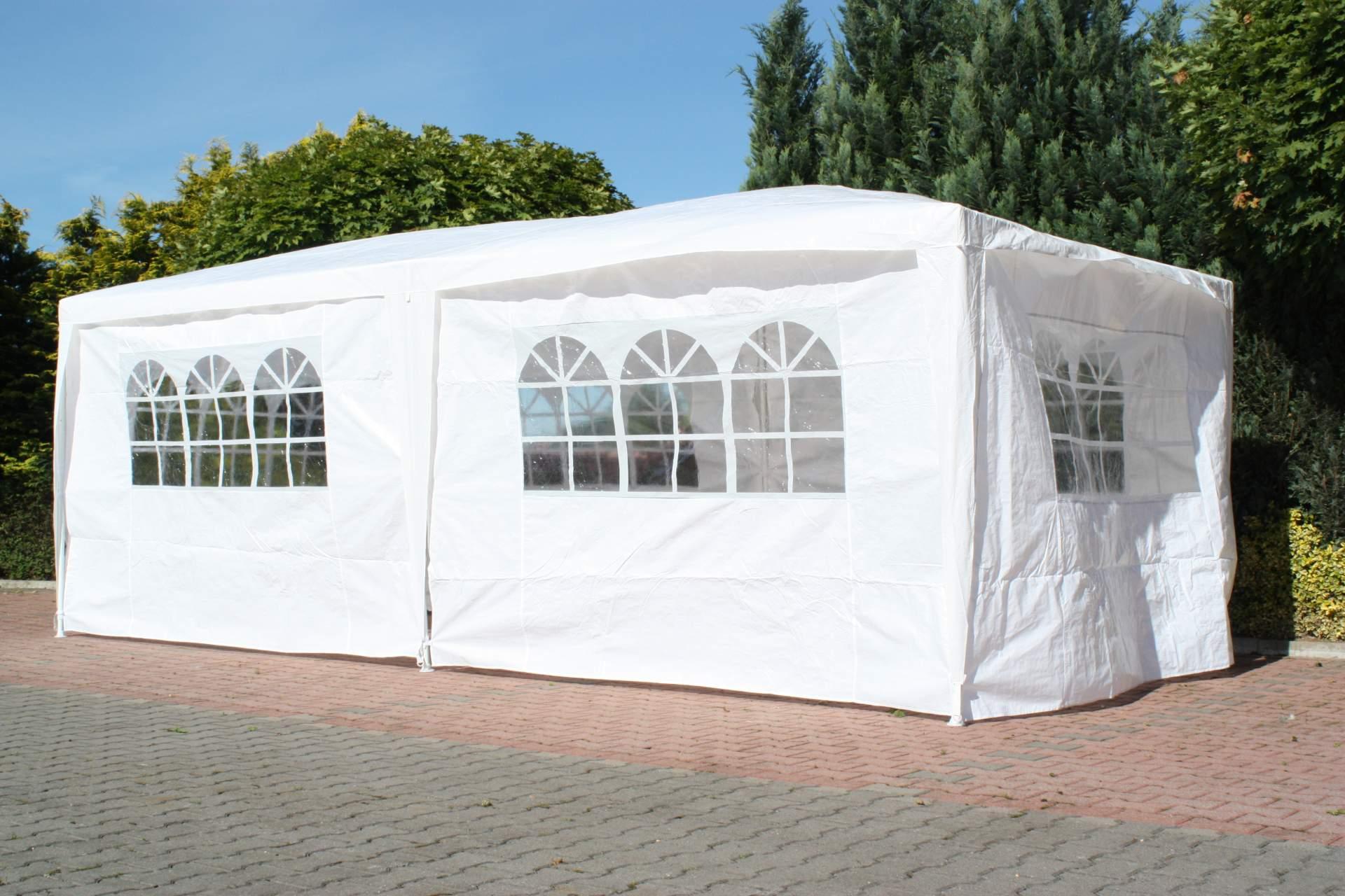 partyzelt mit seitenteilen weiss 3 x 6 m pavillon pavillion garten party zelt ebay. Black Bedroom Furniture Sets. Home Design Ideas