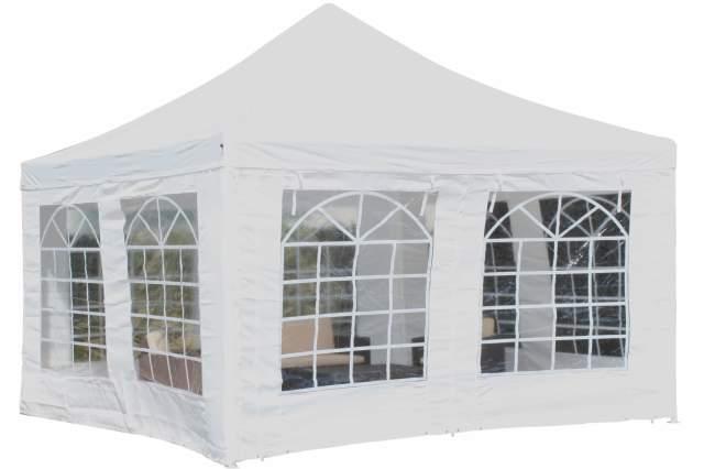 pavillon partyzelt zelt 4 x 4 meter festzelt massives stahlgest nge inkl seiten ebay. Black Bedroom Furniture Sets. Home Design Ideas
