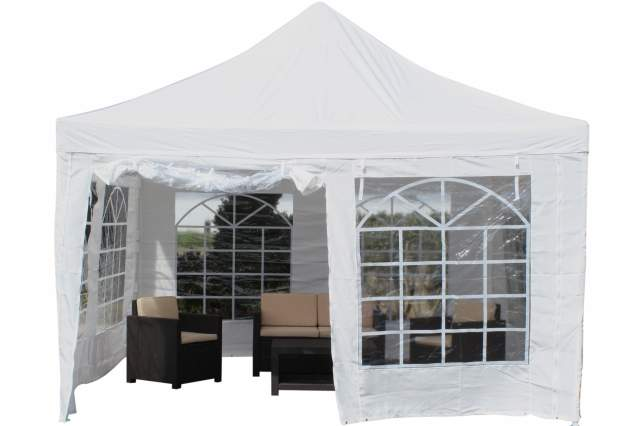 pavillon partyzelt raucher zelt 4 x 4 meter festzelt massiv inkl 4 seitenteile ebay. Black Bedroom Furniture Sets. Home Design Ideas