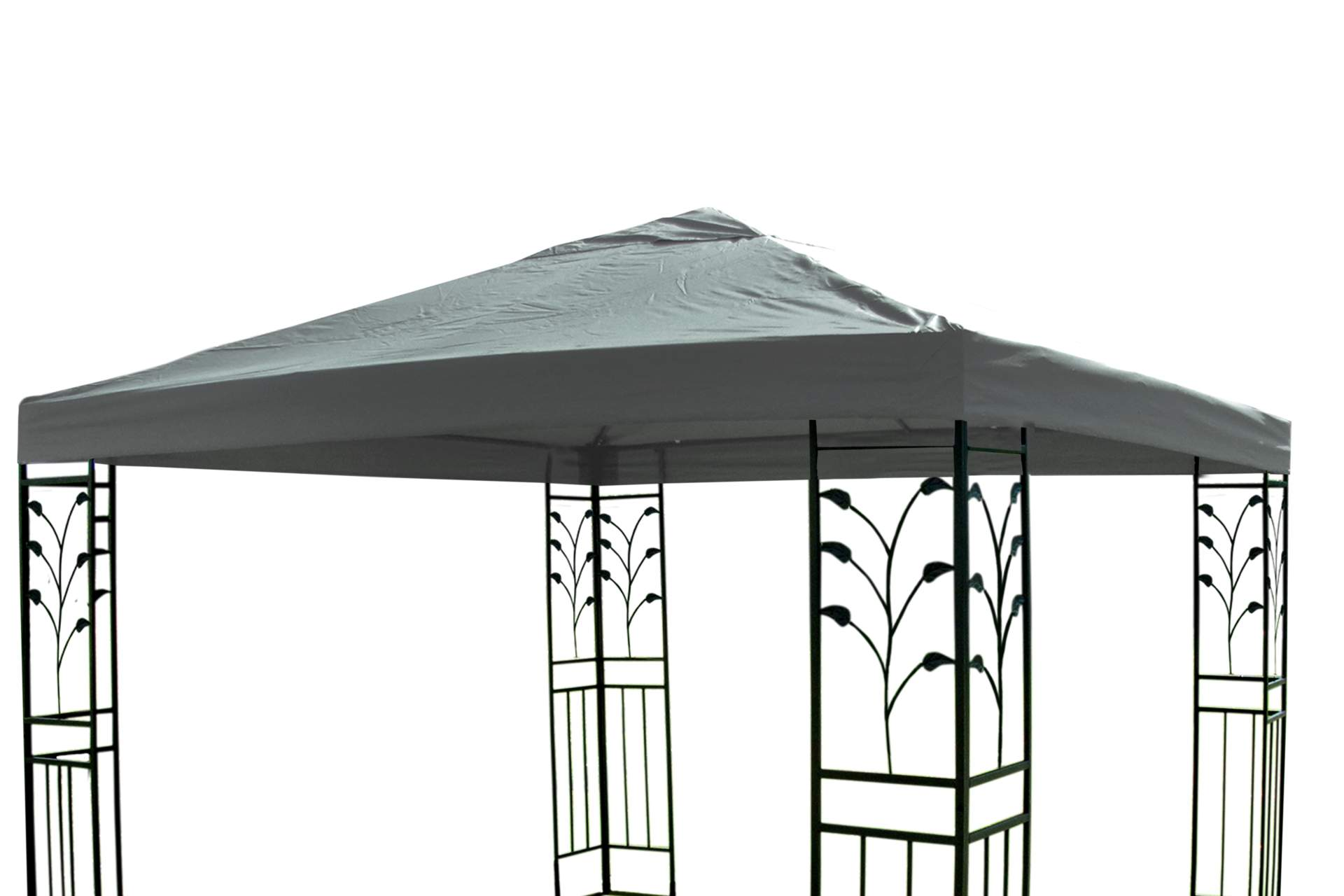 pavillon ersatzdach 3 x 3 m in grau dach pavillon pavillion partyzelt garten neu ebay. Black Bedroom Furniture Sets. Home Design Ideas