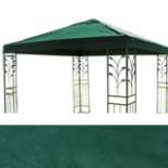 Pavillon Ersatz Dach LUKAS 3x3 m grün Stoffdach