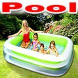 Planschbecken FAMILY Pool 262 x 175 cm Schwimmbecken INTEX