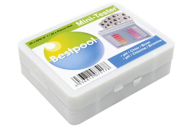 bestpool wassertester ph wert chlor brom pool wasser mini tester 20 tabletten ebay. Black Bedroom Furniture Sets. Home Design Ideas