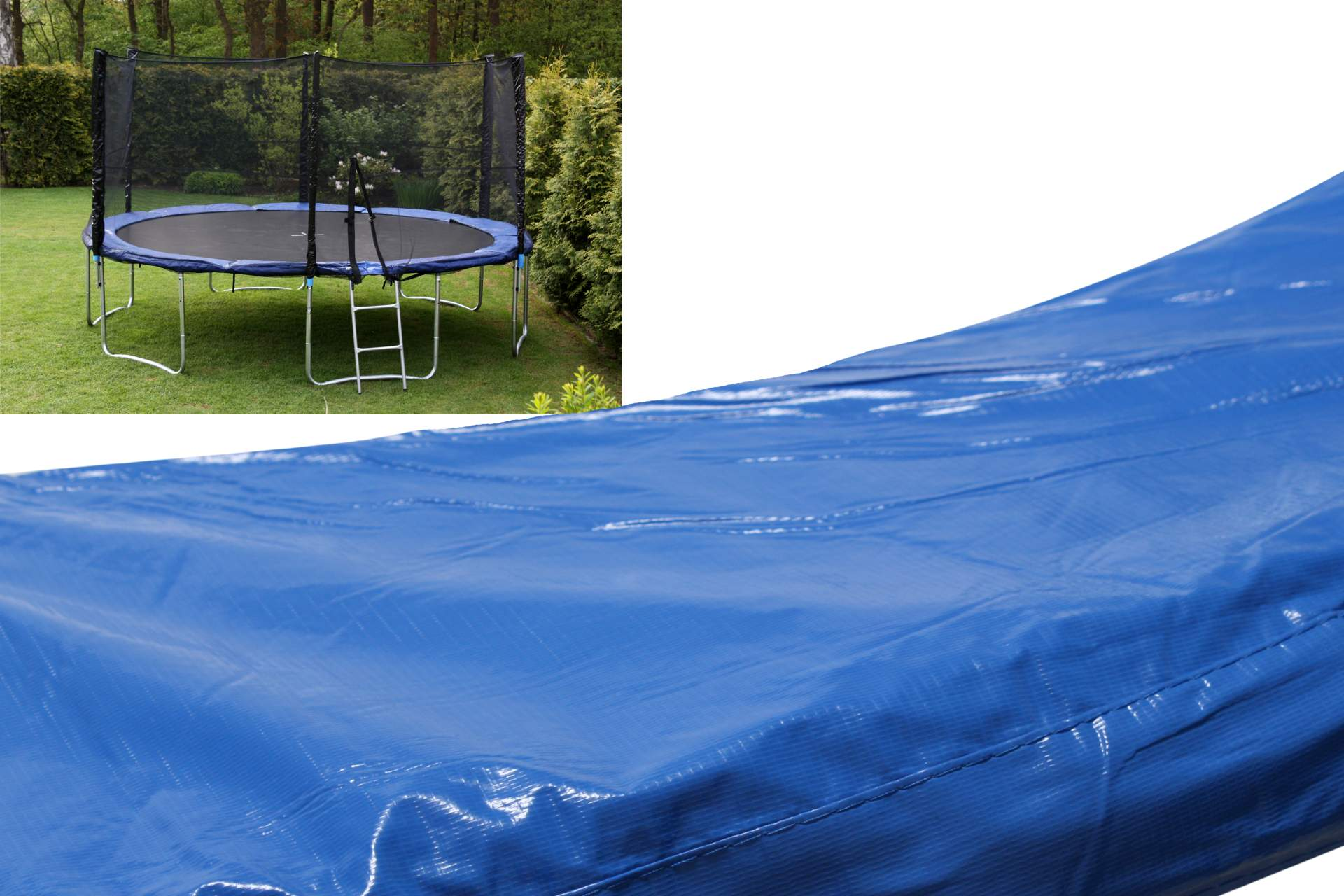 randabdeckung 366 cm f r trampolin abdeckung blau 12ft federabdeckung trampoline ebay. Black Bedroom Furniture Sets. Home Design Ideas