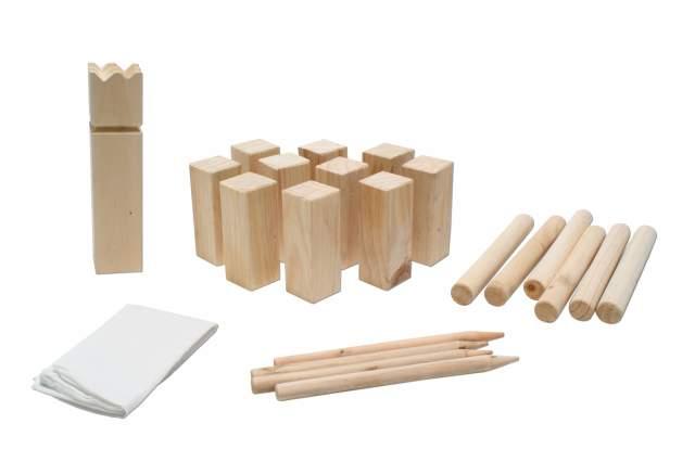 wikinger spiel kubb aus holz wikingerspiel wurfspiel gartenspiel tragebeutel ebay. Black Bedroom Furniture Sets. Home Design Ideas