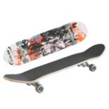 Skateboard mit coolem Design ABEC 5 Kugellager 79 cm Lang