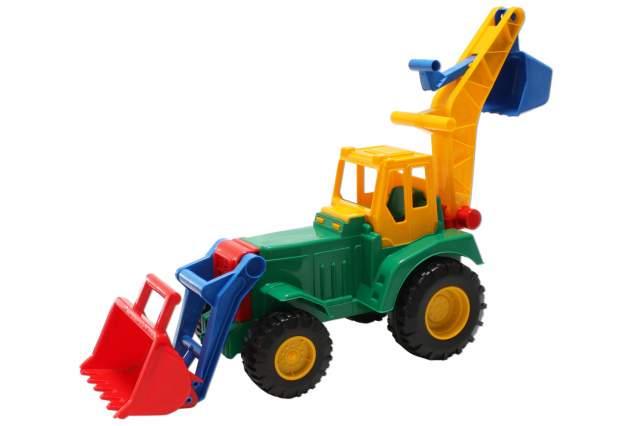 Traktor front und hecklader gelb grün lena trecker
