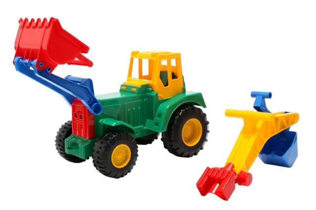Lena trecker bagger traktor front und hecklader gelb