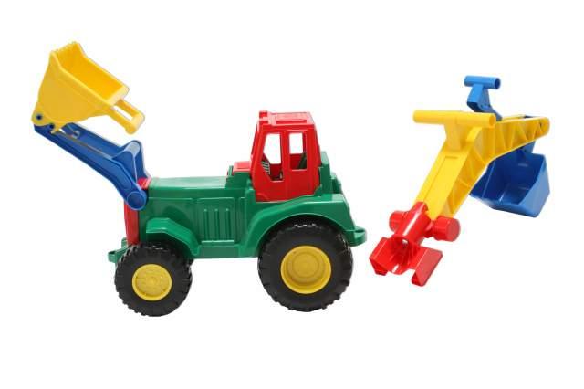 Traktor front und hecklader rot grün lena trecker bagger
