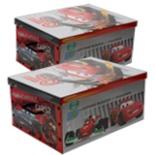 Aufbewahrungsbox CARS 2-er Pack Spielzeug Kiste Box DISNEY