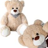 Plüschbär mit Halstuch 100 cm beige Teddybär Kuschel Teddy