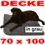 Hundedecke 70 x 100 grau Heim Tier Decke Hunde Katzen